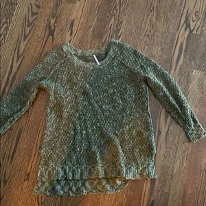 Free people cozy hunter green sweater